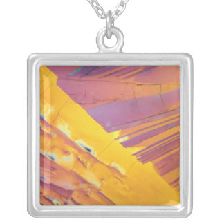 Oxalic Acid Crystals Silver Plated Necklace