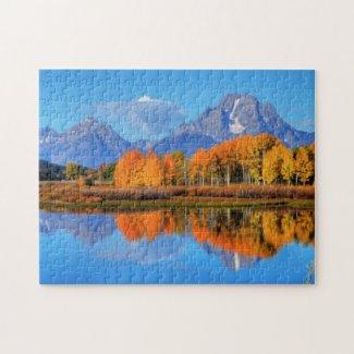 Oxbow Bend Sunrise Jigsaw Puzzle