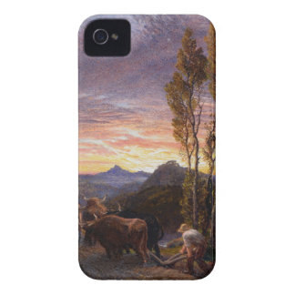 Oxen Ploughing at Sunset (w/c on paper) iPhone 4 Cover