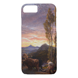 Oxen Ploughing at Sunset (w/c on paper) iPhone 8/7 Case