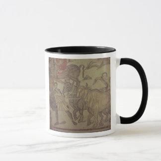 Oxen transporting water, Roman mosaic Mug
