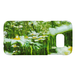 Oxeye Daisy Wildflower Abstract Impressionism