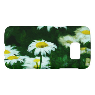 Oxeye White Daisies Abstract Impressionism