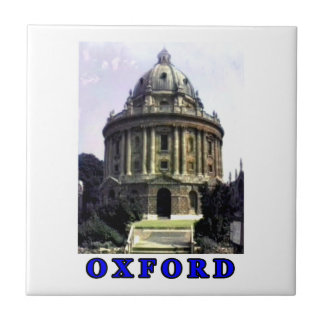 Oxford 1986 snapshot 198 Blue The MUSEUM Zazzle Small Square Tile