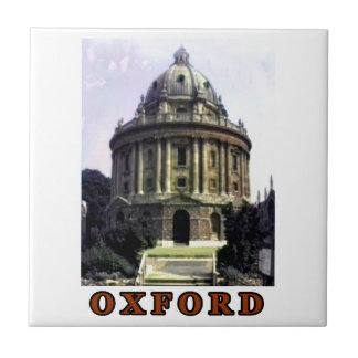 Oxford 1986 snapshot 198 Brown The MUSEUM Zazzle Small Square Tile