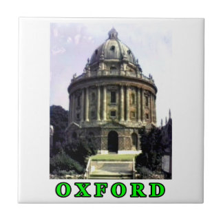 Oxford 1986 snapshot 198 Green The MUSEUM Zazzle Small Square Tile
