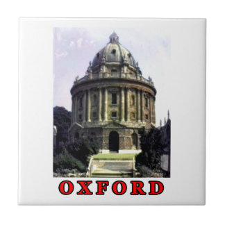 Oxford 1986 snapshot 198 Red The MUSEUM Zazzle Small Square Tile