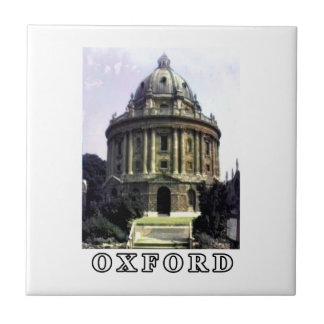 Oxford 1986 snapshot 198 White The MUSEUM Zazzle Small Square Tile