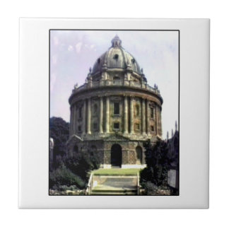 Oxford 1986 snapshot 198c The MUSEUM Zazzle Small Square Tile