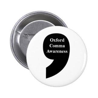 Oxford Comma Awareness Button