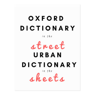 Oxford Dictionary in the STREET... Postcard