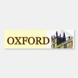 Oxford England 1986 Building Spirals 1 Bumper Sticker