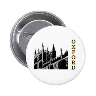 Oxford England 1986 Building Spirals Black 6 Cm Round Badge