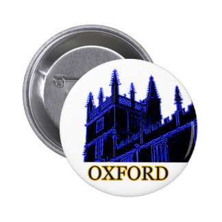 Oxford England 1986 Building Spirals Blue 6 Cm Round Badge
