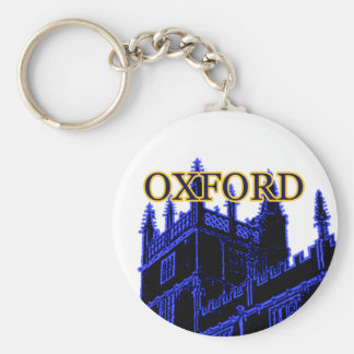 Oxford England 1986 Building Spirals Blue Key Ring