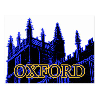 Oxford England 1986 Building Spirals Blue Postcard