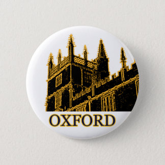 Oxford England 1986 Building Spirals Brown 6 Cm Round Badge