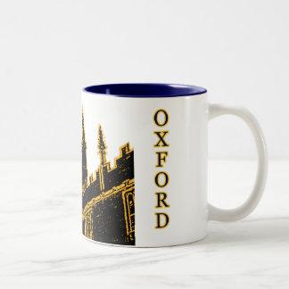 Oxford England 1986 Building Spirals Brown Mugs