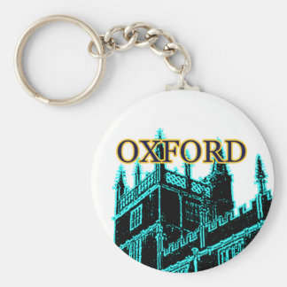 Oxford England 1986 Building Spirals Cyan Basic Round Button Key Ring