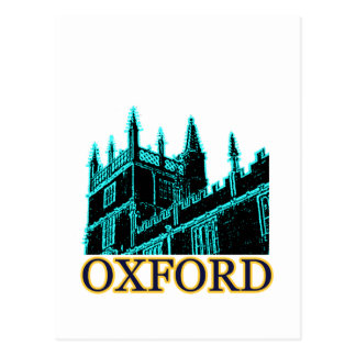 Oxford England 1986 Building Spirals Cyan Postcard