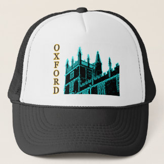 Oxford England 1986 Building Spirals Cyan Trucker Hat