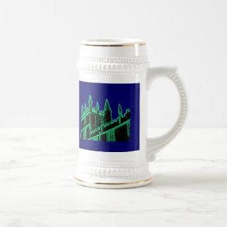 Oxford England 1986 Building Spirals Green Mugs