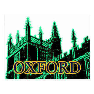 Oxford England 1986 Building Spirals Green Postcard