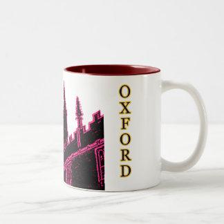 Oxford England 1986 Building Spirals Magenta Coffee Mugs