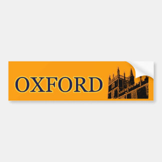 Oxford England 1986 Building Spirals Orange Bumper Sticker
