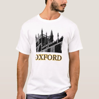 Oxford England Building Spirals Black jGibney T-Shirt