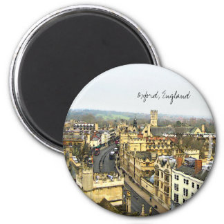 Oxford, England, High St View 6 Cm Round Magnet