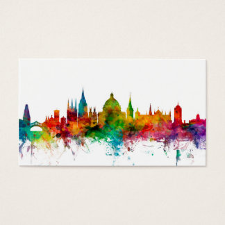 Oxford England Skyline Business Card