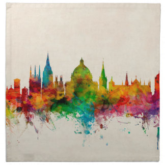 Oxford England Skyline Napkin