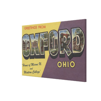 Oxford, Ohio - Miami U & Western College Canvas Print