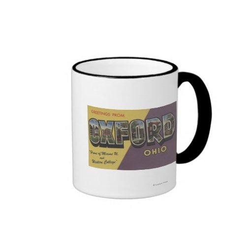 Oxford, Ohio - Miami U & Western College Coffee Mugs