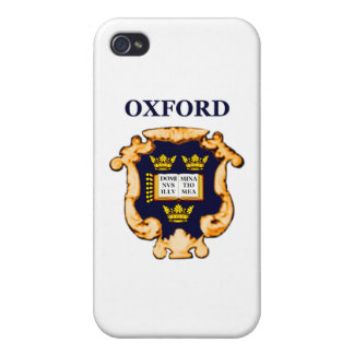 Oxford Plaque Blue Gold The MUSEUM Zazzle Gifts iPhone 4/4S Case