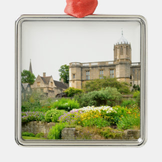 Oxford Silver-Colored Square Decoration