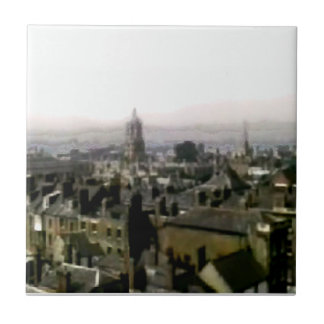 Oxford snapshot Panorama Rooftops The MUSEUM Zazzl Small Square Tile
