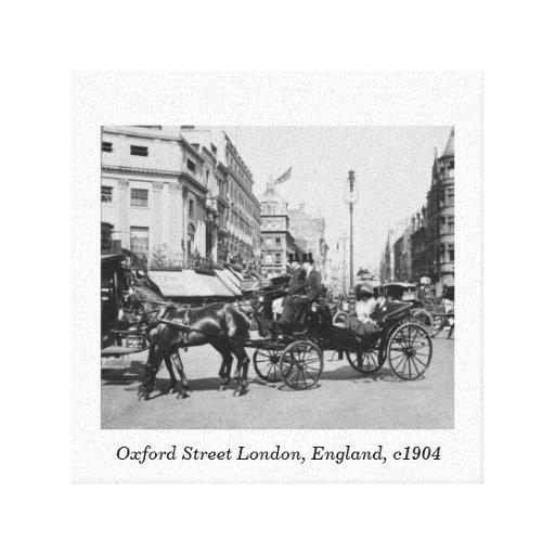 Oxford Street London, Vintage England print Canvas Print