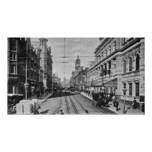 Oxford Street, Manchester, c.1910 Poster