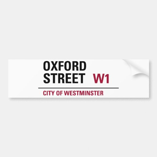 Oxford Street Sign Bumper Stickers