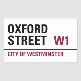 Oxford Street Sign (pack of 4) Rectangular Sticker