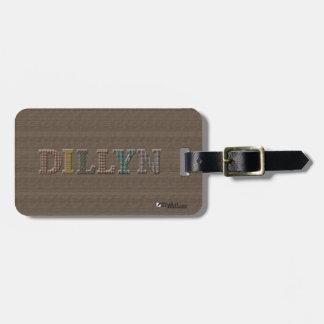 Oxford Tweed Luggage Tag for DILLYN | EtyArt™