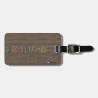 Oxford Tweed Luggage Tag for JENNIFER | EtyArt™