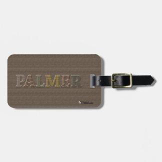 Oxford Tweed Luggage Tag for PALMER | EtyArt™