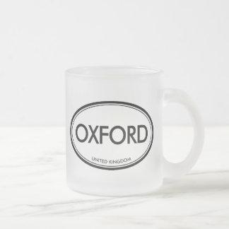 Oxford, United Kingdom Frosted Glass Mug