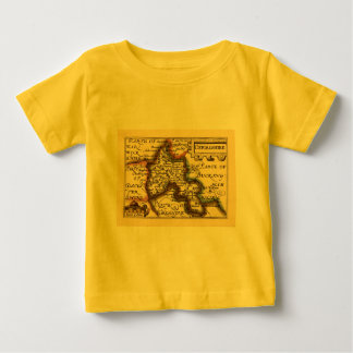 Oxfordshire County Map, England Baby T-Shirt