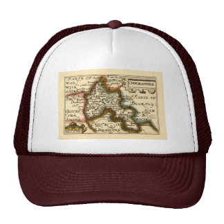 Oxfordshire County Map, England Hats