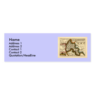 Oxfordshire County Map, England Pack Of Skinny Business Cards