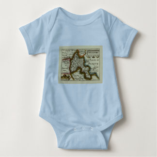 Oxfordshire County Map, England Shirt
